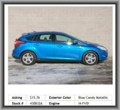 2012 Ford Focus SE Hatchback   In-Dash Single Cd Player, Floor Mats: Carpet Front, 4-Wheel Abs Brakes, Coil Rear Spring, Rear Center Seatbelt: 3-Point Belt, Remote Activated Exterior Entry Lights, External Temperature Display, 1St And 2Nd Row Curtain Head Airbags, Dusk Sensing Headlights, Overall Length: