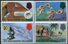 Francobolli . Lotta contro la malaria - Malaria on Stamps Isole Solomona 1977