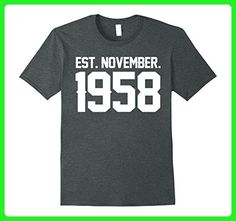 Mens Happy 1958 it's My 59 th Birthday Gift Ideas Tshirt For Love 2XL Dark Heather - Birthday shirts (*Amazon Partner-Link)