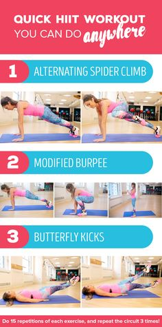 Try this easy HIIT workout you can do at home, anytime you want!
