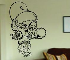 Hey, I found this really awesome Etsy listing at https://www.etsy.com/listing/186230174/grinch-skull-wall-vinyl-decal-sticker