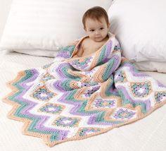 Baby Granny Stripes Blanket