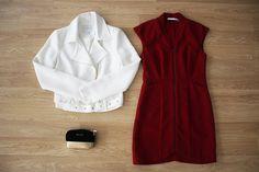 La opción más estilosa para una celebración o día de trabajo!  Vestido rojo > http://www.colettemoda.com/producto/vestido-rojo-cremallera/