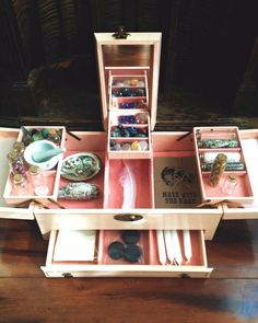 Jewelry Box Supply Holder - what a cool idea