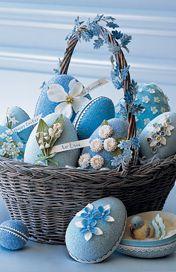 glittered easter eggs martha stewart