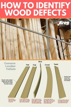 How To Identify Common Lumber Defects Diy Wood Projects, Wood Crafts, Furniture Plans, Diy Furniture, Building Kitchen Cabinets, Wood Mill, Hardwood Lumber, Kreg Jig, Cute Home Decor