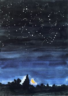 """""""Moonset"""" by Charles Burchfield, 1916"""