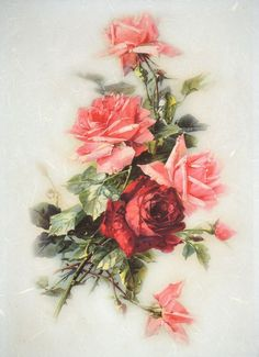 Rice Paper for Decoupage Decopatch Scrapbook Craft Sheet Vintage Red Roses Large in Crafts, Multi-Purpose Craft Supplies, Crafting Paper | eBay!