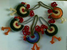 Купить Петушок вязаный, игрушка, брелок, амигуруми - петушок, вязаный петушок, вязаный крючком петушок