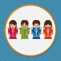 Embroidery: The Beatles Cross Stitch