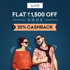 Give yourself a fun treat with #Ajio's 20% Cashback offer! Also get 1,500 off coupon orders over Rs 2,690 only via CashKaro So shop away! #AjioOffers #Shopping #Savings #Fun #OwnAnAJIO 😍