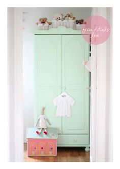 Mint armoire in nursery