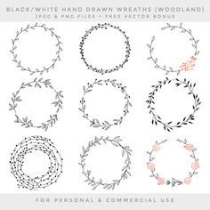 Wreath clip art hand drawn wreath clip art by WinchesterLambourne