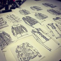 sweater sketches / flats / fashion design, annie lim , ajlim