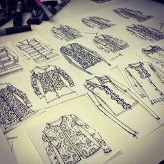 sweater sketches / flats / fashion design, annie lim , ajlim
