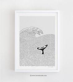 The Ocean of Story - Art Print. $30.00, via Etsy.