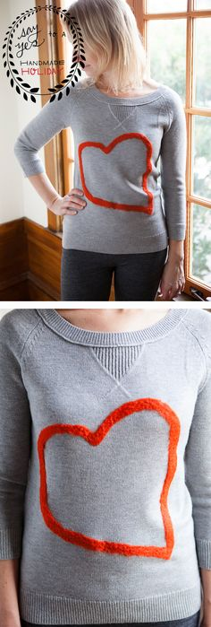 DIY: felted heart sweater