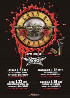 See U soon at Guns N' Roses Tour in Japan!!  #GnFnR #BABYMETAL #OSAKA #KOBE #YOKOHAMA #SAITAMA https://www.creativeman.co.jp/artist/2017/01guns/ #baby#babystuff#babyproducts#