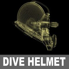 maya commercial dive helmet - commercialdive.max.zip by kision