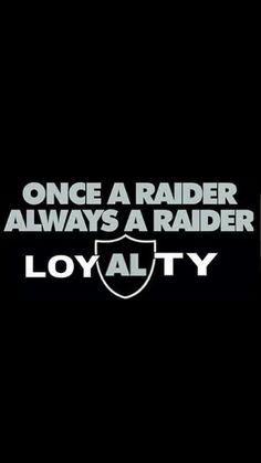 Loyalty-Raider fans are always loyal!