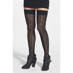 Women's Vince Camuto Openwork Knit Thigh High Socks (60 BRL) ❤ liked on Polyvore featuring intimates, hosiery, socks, accessories, shoes, vince camuto, over-the-knee socks, over knee socks, thigh high hosiery and thigh high knit socks