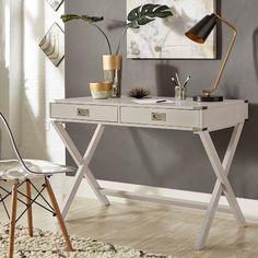 8 White Home Office Desks That You'll Love... #homedecor #homeoffice #officedesk #decoration