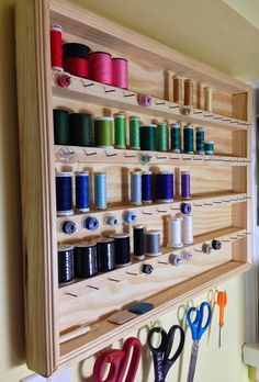 craft room ideas * craft room ideas _ craft room organization _ craft room storage _ craft room design _ craft room _ craft room office _ craft room ideas on a budget _ craft room decor Craft Room Storage, Sewing Room Storage, My Sewing Room, Sewing Room Decor, Fabric Storage, Bedroom Decor, Thread Storage, Sewing Room Organization, Organization Ideas