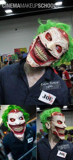 Terrifying Joker Face Prosthetic And Makeup
