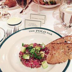 My favorite tuna tartare  Jantar mara da @ralphlauren no #polobar! Claro que pedi meu atunzinho! Kkkk É o melhor! #NYFW by camilacoutinho
