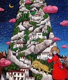 """Join us for a contemporary #Tibetan #art exhibition at Trace Foundation in New York, November 6 - December 21, 2014. gaton.trace.org """"Sacred Home"""" (2008) by #RimaFujita courtesy of the artist"""