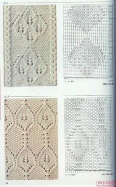 Photo from album Knitting Patterns on Yandex. Lace Knitting Stitches, Knitting Basics, Knitting Charts, Knitting Designs, Knitting Projects, Stitch Patterns, Knitting Patterns, Crochet Patterns, Knit World