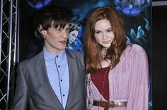 Eleventh Doctor Who, actor Matt Smith and companion Amy Pond, actress Karen gillian. Doctor Who Assistants, Tv Doctors, Amy Pond, Eleventh Doctor, Peter Capaldi, Matt Smith, Actors & Actresses, Tv Shows, Fictional Characters