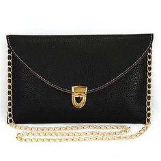 Stylish Leather Envelope Clutch Handbag Shoulder Strap Chain Evening Bag Purse - http://handbags.kindle-free-books.com/stylish-leather-envelope-clutch-handbag-shoulder-strap-chain-evening-bag-purse/