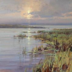 On the Marsh, oil, 24 x 24. Scott Christiansen