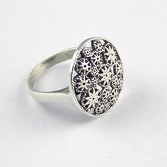 1 Pcs Beautiful Floral Design 925 Sterling Silver High Polished Stylish Ring #Handmade #Ring #AnyOccasion