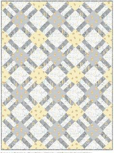 = free quilt pattern = Cracker Lattice quilt at Camelot Fabrics
