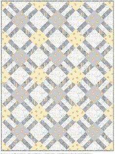 = free quilt pattern = Cracker Lattice quilt at Camelot Fabrics