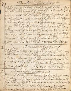 Recipes ~ 1682 vintage aged ephemera