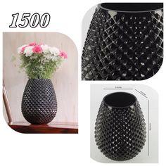 Beautiful black flower vase