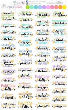 Adulting Planner Stickers – PlannerChickDesigns