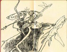 Moleskine art journal pen and ink