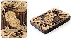 Amazing Laser-Cut Wood Artworks by Martin Tomsky