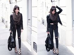 Get this look: http://lb.nu/look/7762268  More looks by Lydia Marceau: http://lb.nu/theblackfeather  Items in this look:  Louis Vuitton Scarf, Topshop Jeans, Givenchy Bag, Zara Shoes   #casual #edgy #minimal