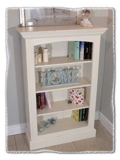 Small Shabby Chic Bookcase. www.chicmouldings.com