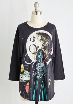 Sooner or Vader Top. Suit up with this bold Star Wars top to support your favorite sci-fi villain. #black #modcloth
