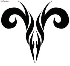 Zodiac Tattoo Designs With Image Zodiac Symbol Picture Aries Tribal Tattoo 5 Tribal Tattoos, Body Art Tattoos, Sleeve Tattoos, Aries Zodiac Tattoos, Aries Ram Tattoo, Cat Tattoo, Tattoo Drawings, Aries Symbol Tattoos, Tattoo Shop