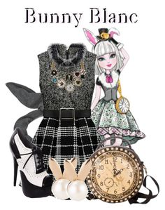 """""""Bunny Blanc"""" by waterdude17 ❤ liked on Polyvore featuring Cheap Monday and Aamaya by priyanka"""