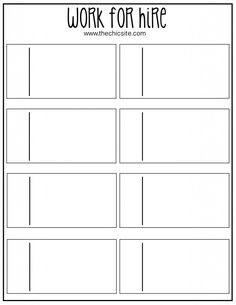 Work for Hire Board - Free Printable #chores #parenting #kids