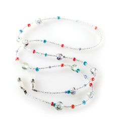 Turn a simple eyeglass holder into an attractive accessory with our selection of Eyexotic products, including stylish eyeglass necklaces. Waist Jewelry, Beaded Jewelry, Beaded Necklace, Custom Jewelry, Handmade Jewelry, Beaded Lanyards, Eyeglass Holder, Designer Eyeglasses, Track