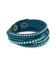 Swarovski Silverplated Crystal Bracelet - Blue - Size No Size